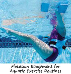 Flotation Equipment for Aquatic Exercise Routines