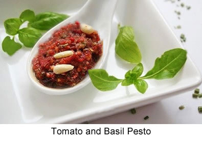 Recipes for Fresh Tomatoes: Basil & Tomato Pesto