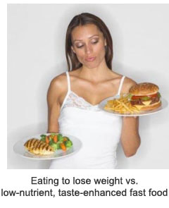 Eating to Lose Weight vs. Low Nutrient Fast Food
