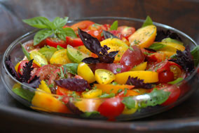 Recipes for Fresh Tomatoes: Tomato & Basil Salad