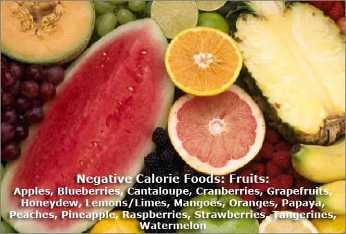List Of Negative Calorie Food: Fruits